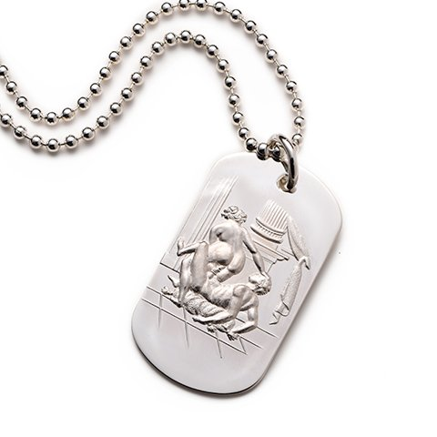 Francois Sterling Silver Dog Tag erotic jewellery