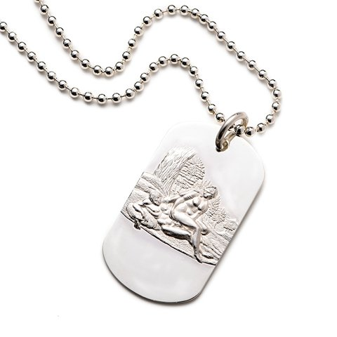 Medor Sterling Silver Dog Tag erotic jewellery