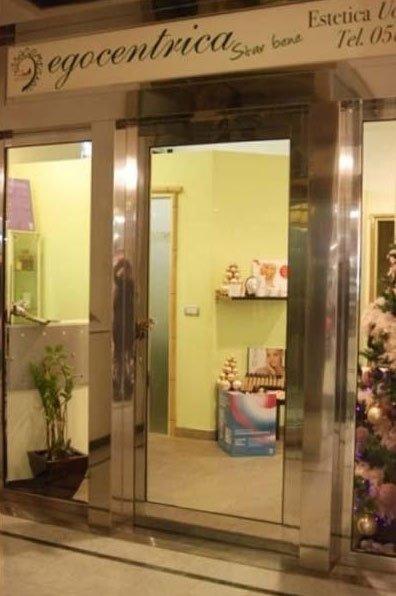 Vista del centro estetico dalla porta di ingresso