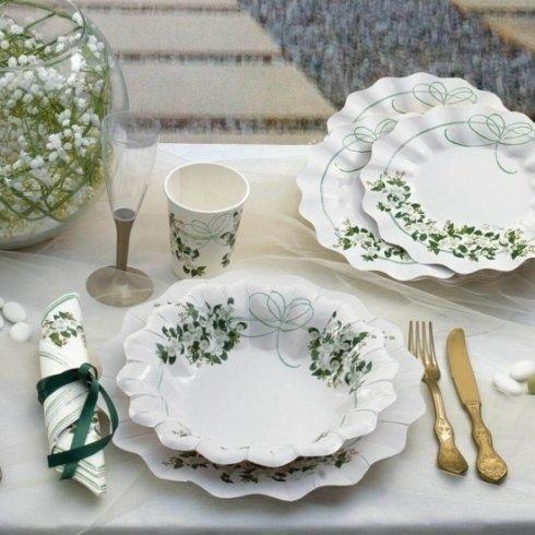 piatti e bicchieri coordinati