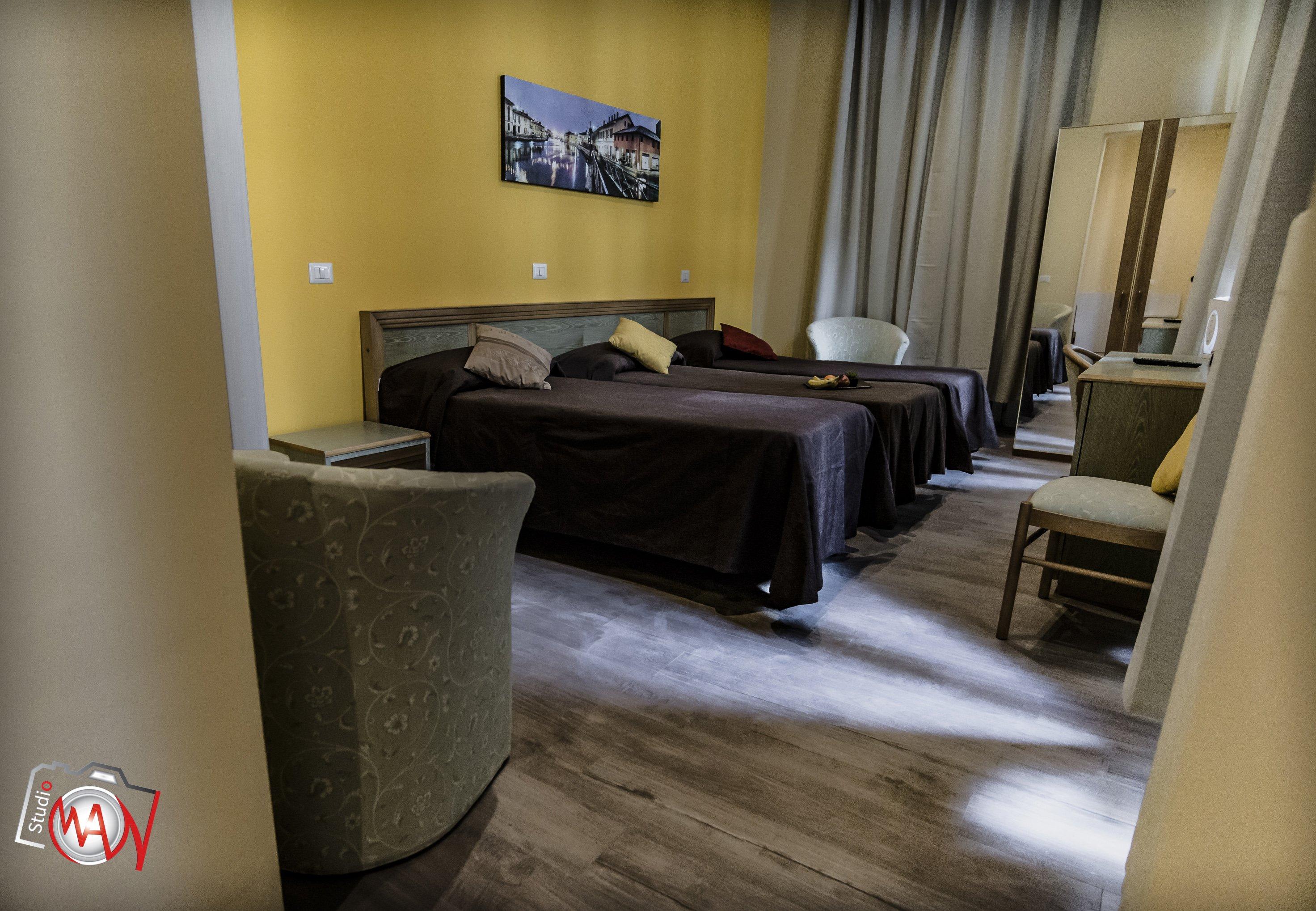 Camera tripla in albergo