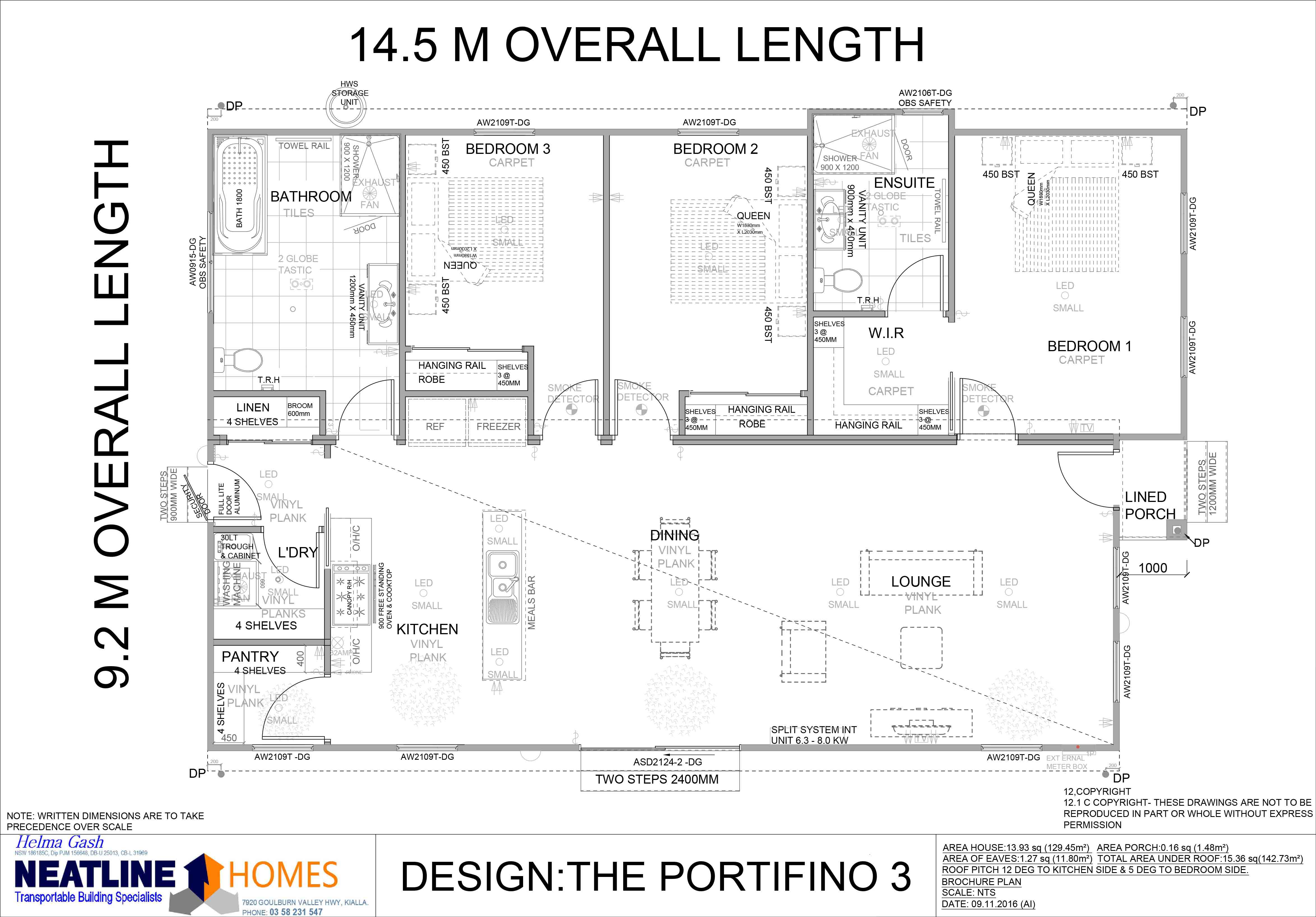 the portifino 3 floorplan