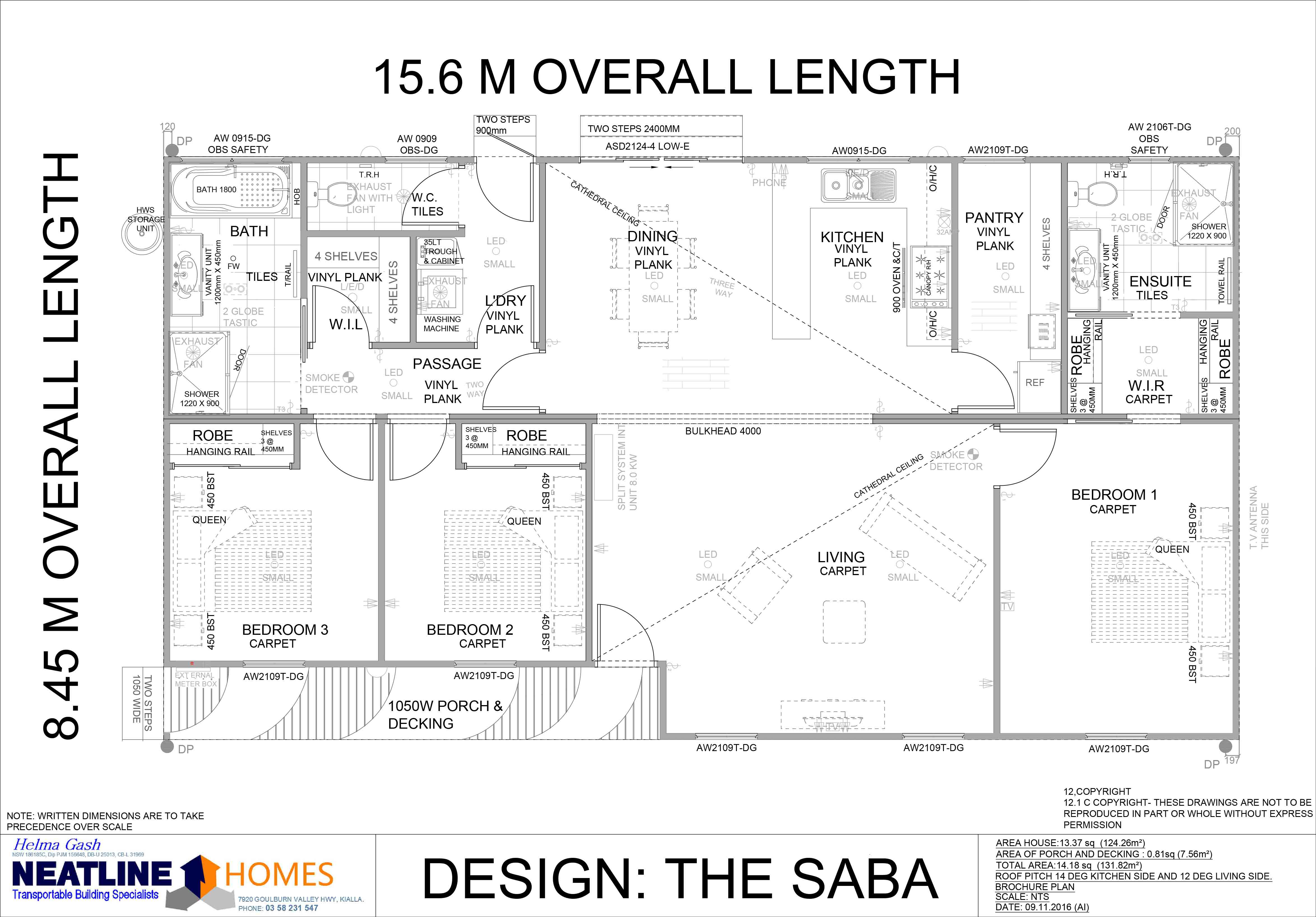 the saba floorplan