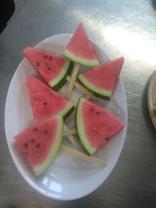gelati e frutta