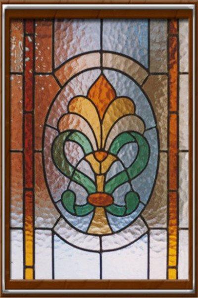 Una vetrata decorata