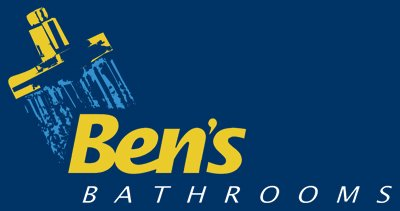 bens bathrooms renovations business logo