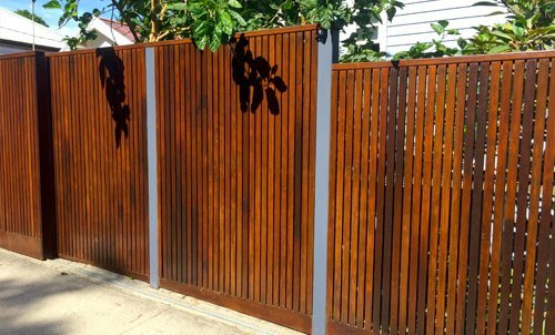 View of a metal gate