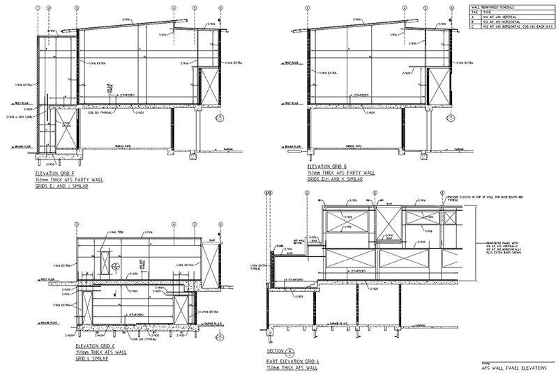 lindsay tapp contract drafting pty ltd precast wall panels
