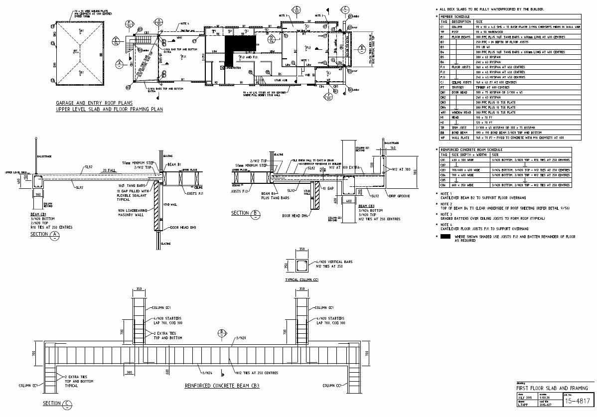 lindsay tapp contract drafting pty ltd residence floor framing