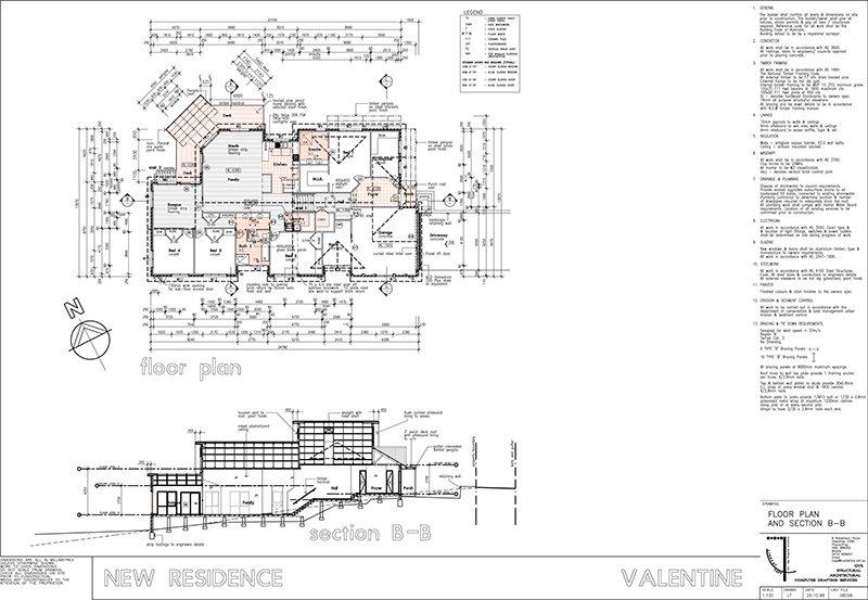 lindsay tapp contract drafting pty ltd split level residence floor plan