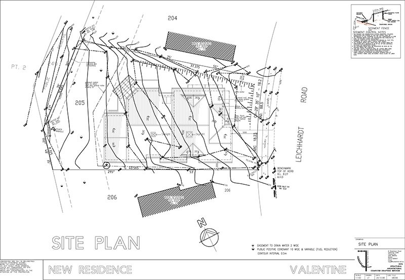 lindsay tapp contract drafting pty ltd split level residence site plan
