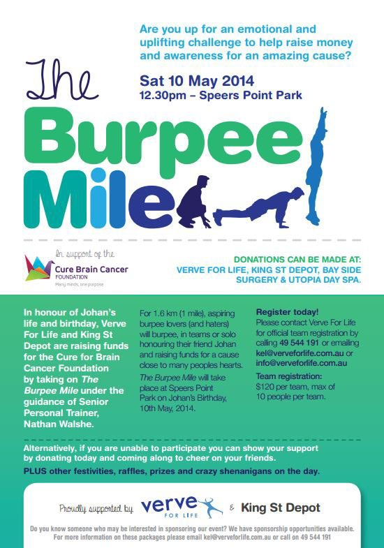 lindsay tapp contract drafting pty ltd the burpee mile donation flyer