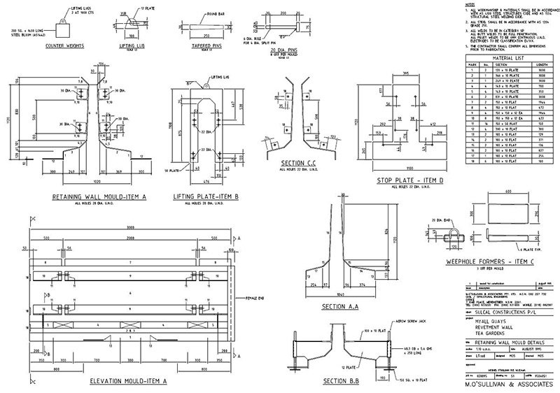 lindsay tapp contract drafting pty ltd wall mould details