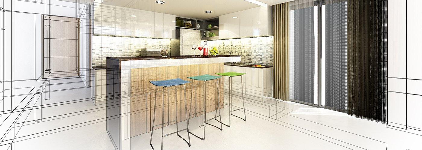 cucina di design arredata