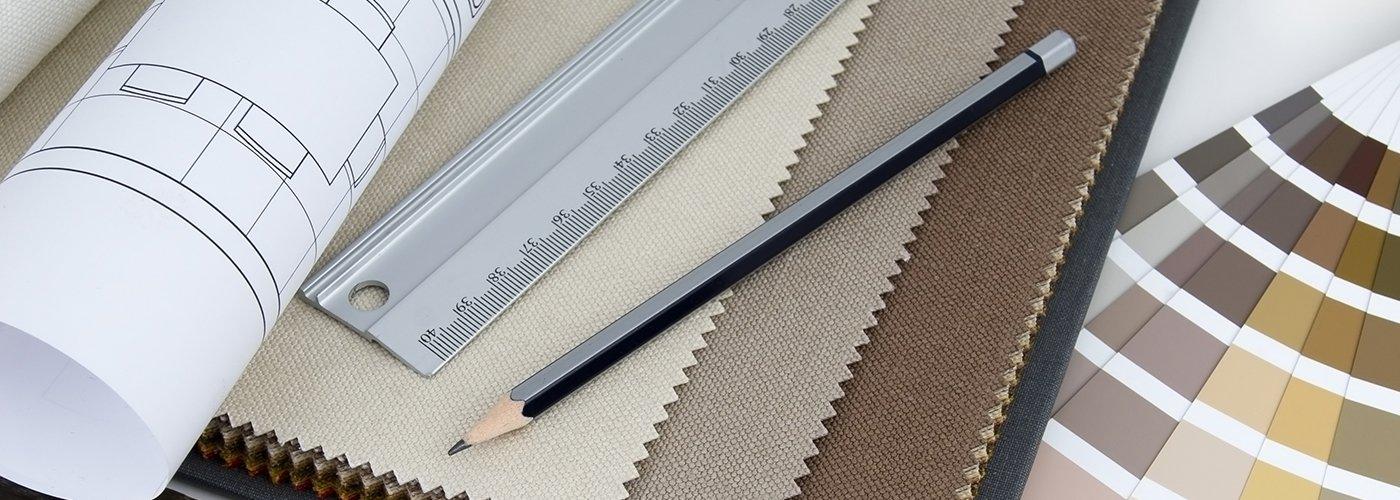 matita, righello e tonalità di vernice