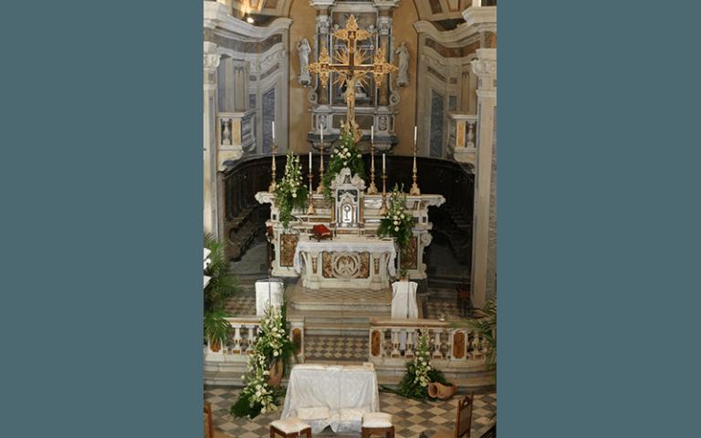 addobbi in chiesa Mirco e Cristina
