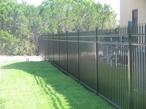 Security fence on exterior of building
