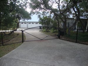 Residential controlled access gate