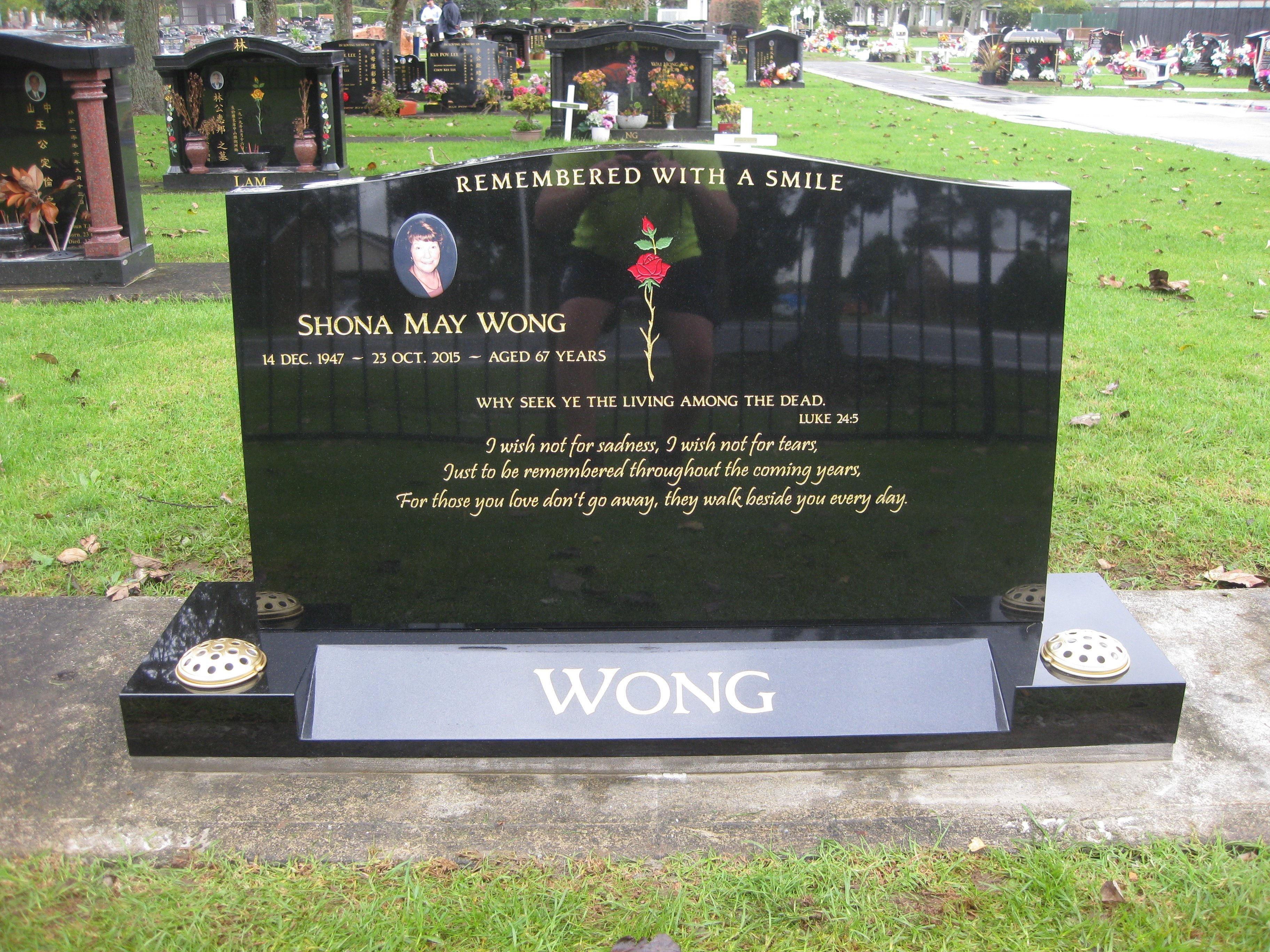 engraved headstones