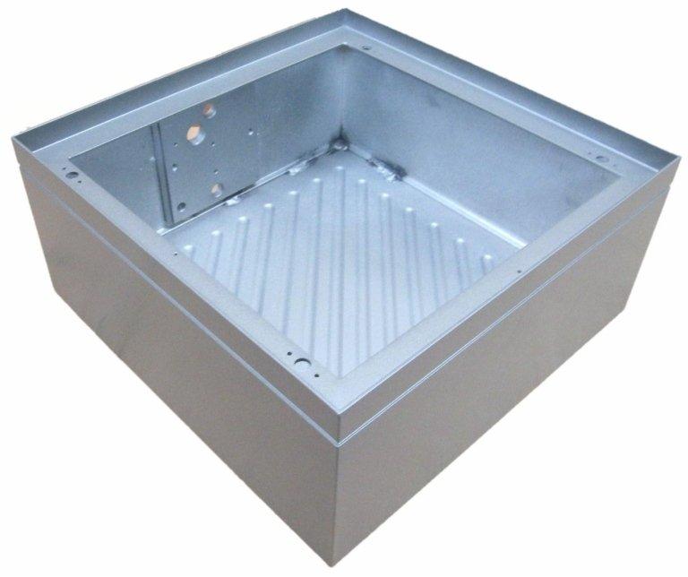 calotta in alluminio saldata per illuminazione