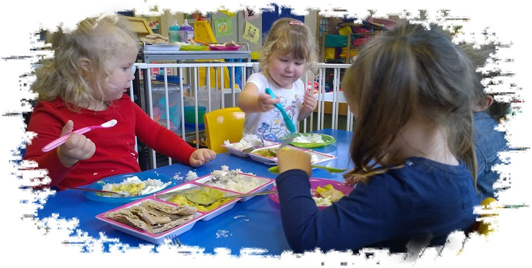 Children eating at a childcare
