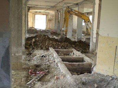 scavi in un edificio