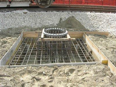fondamenta per costruzione edificio