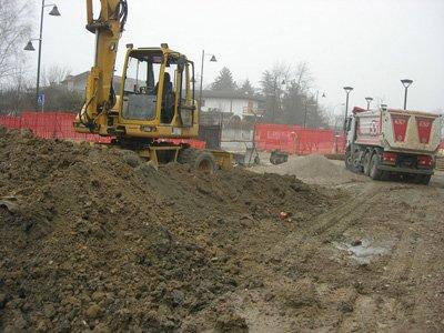 ruspa durante uno scavo