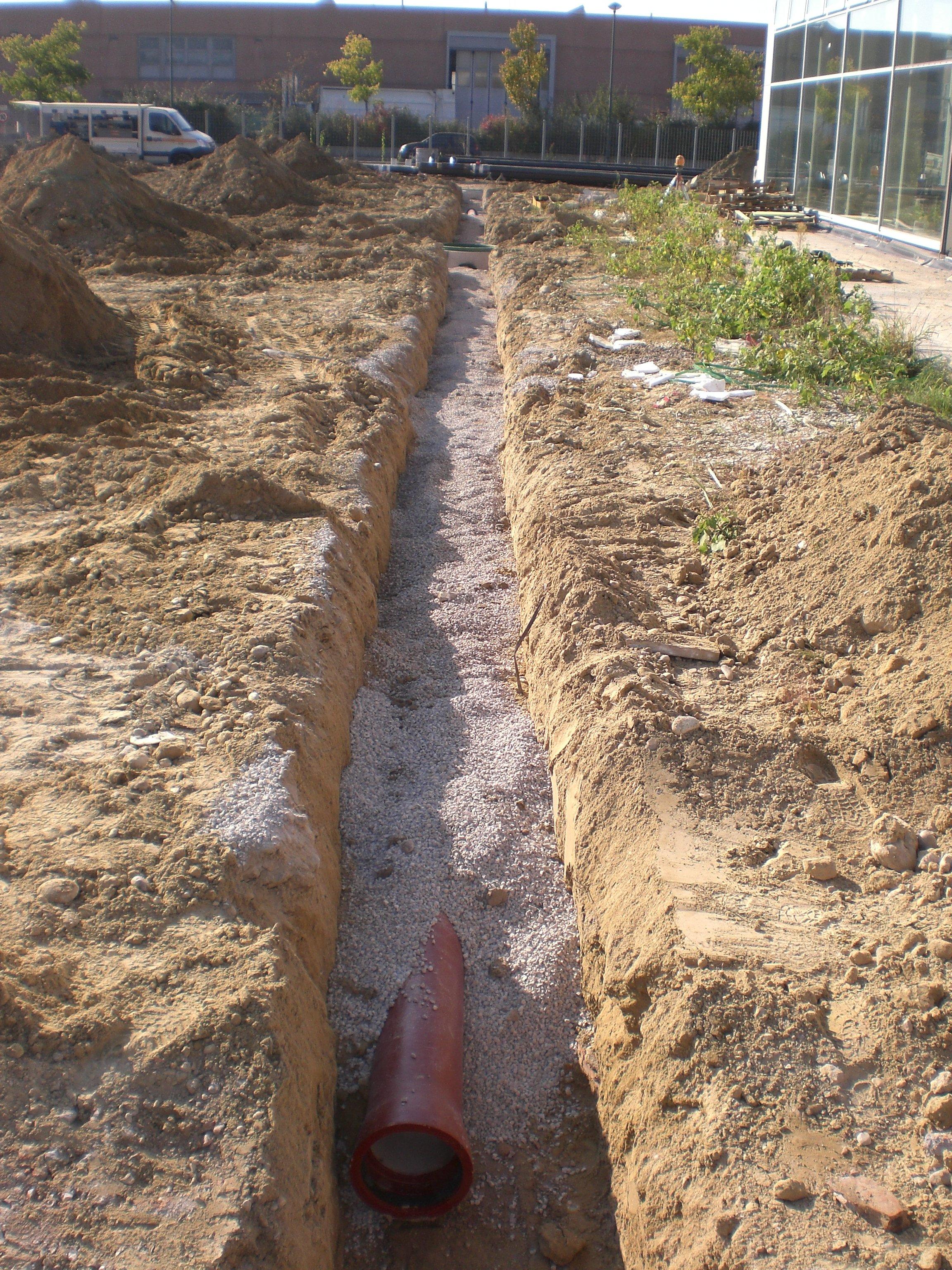 scavi per condotti