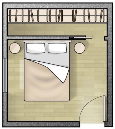 Planimetria di una camera da letto
