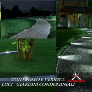 Controllo e verifica luci giardini condominiali
