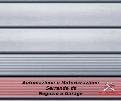 Automazione o Motorizzazione serrande da negozio o garage