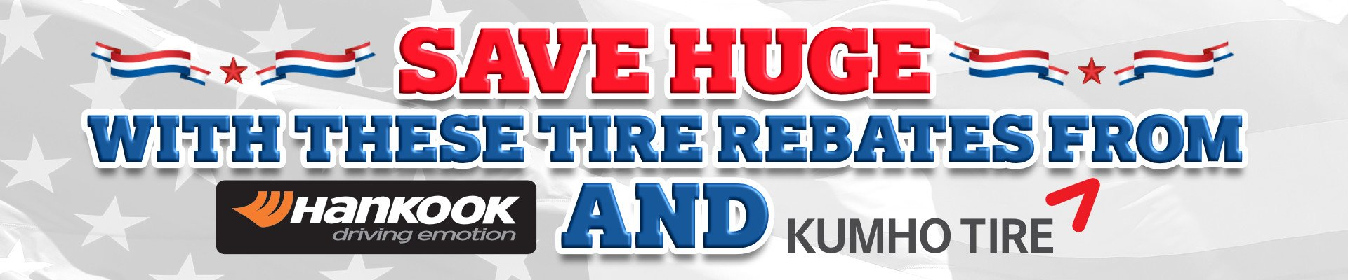 huge tire rebates hankook kumho tires