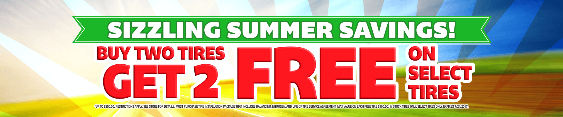 Buy 2 Tires Get 2 Tires Free- Discount Tire Centers