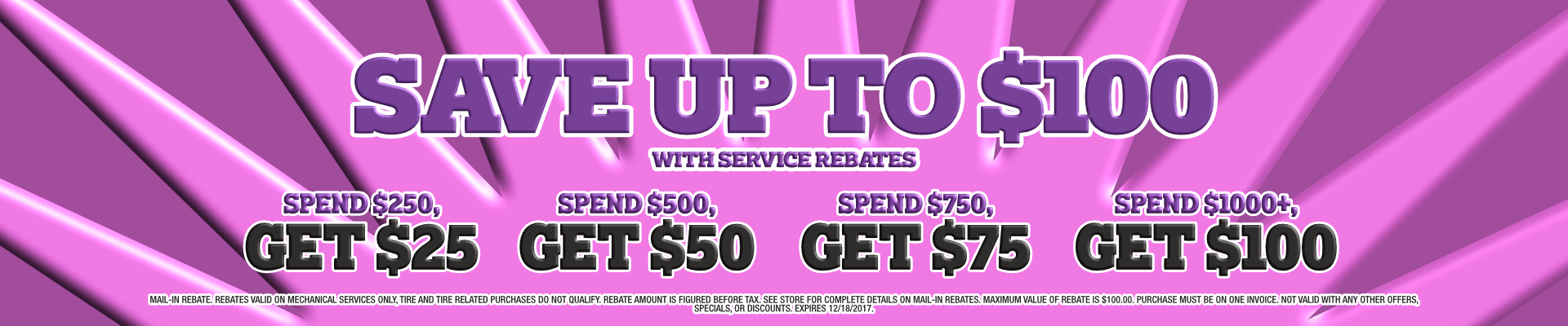 Save Up to $100 with Rebates