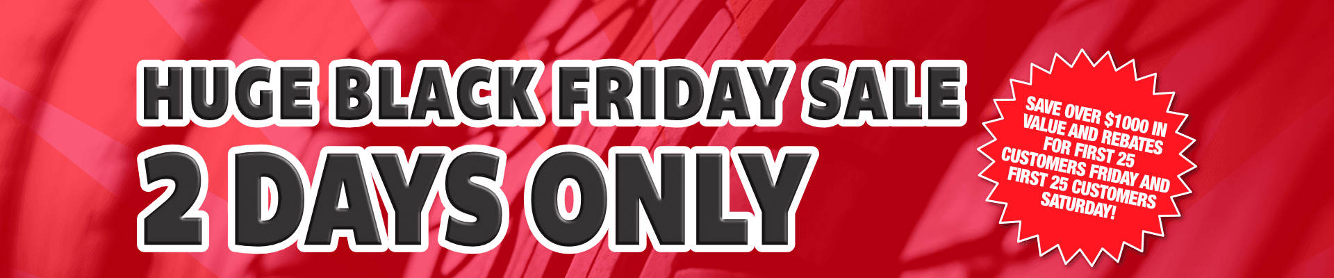 Black Friday Tire Sale Special