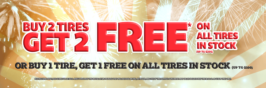 Buy Two Tires Get 2 Free on All Tires In Stock | Discount Tire Centers