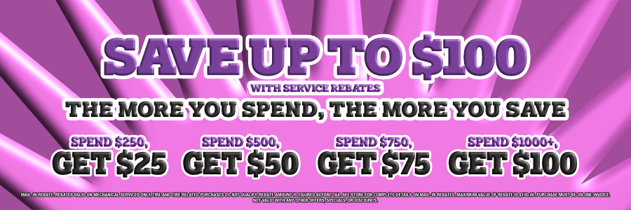 Save Up To $100 with Service Rebates