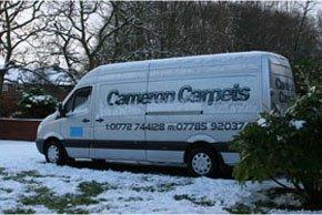Carpet fitting specialists - Preston - Cameron Carpets - Van