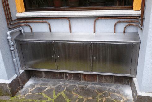 copricontartori gas in acciaio inox