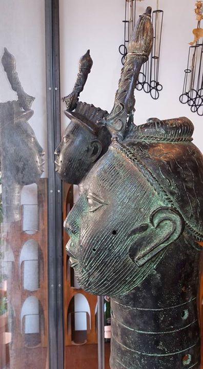 teste Ife Benin in bronzo a cera persa