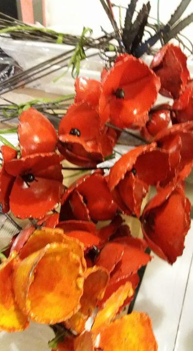 fiori da giardino riciclati