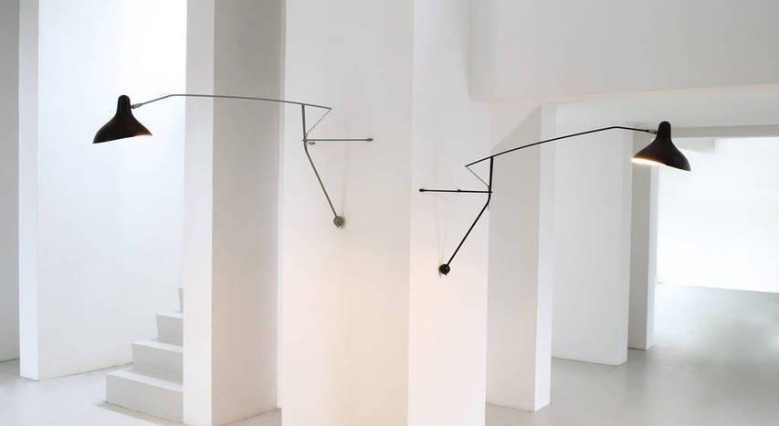 lampade nere a muro