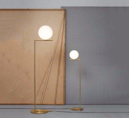 due lampade accese oro satinato