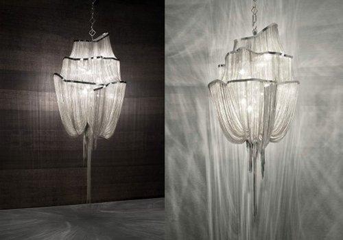 due lampadari accesi