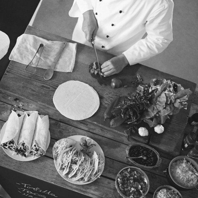 Chef Preparing food Image