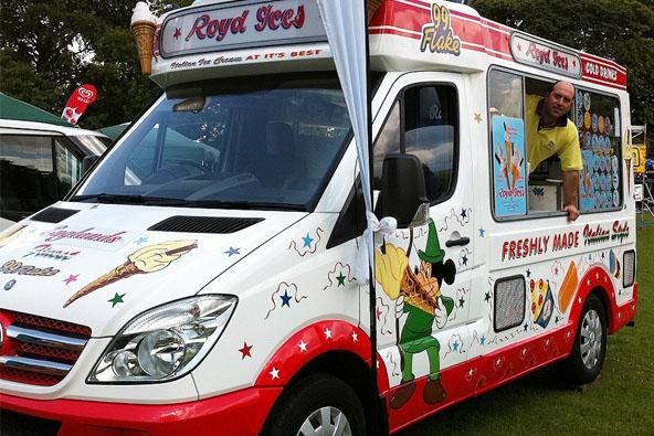 One of the ice cream vans belonging to Royd Ices
