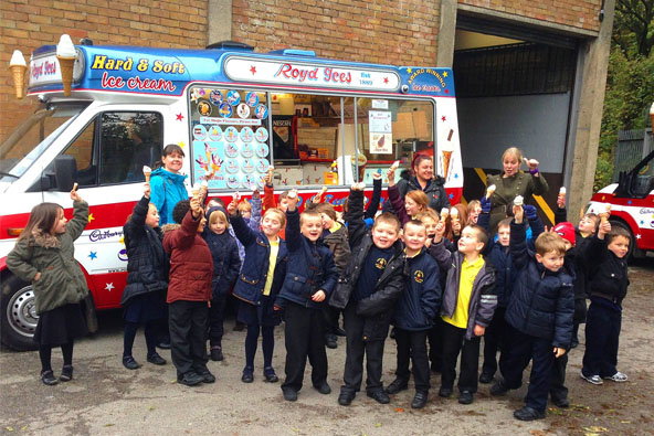 Happy children with ice cream from Royd Ices