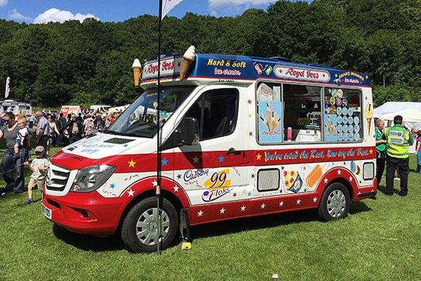 Ice cream van at an event