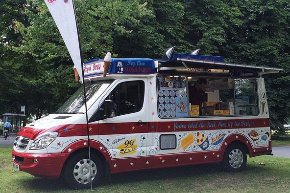 One of Royd Ices' ice cream vans